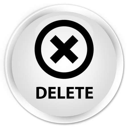 delete: Delete white glossy round button