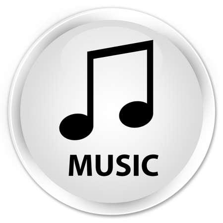 tune: Music (tune icon) white glossy round button