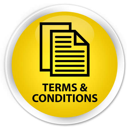 terms: Terms and conditions (pages icon) yellow glossy round button
