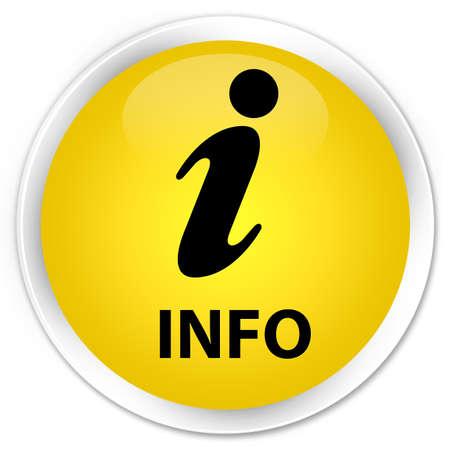 inform information: Info yellow glossy round button