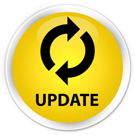 glossy button: Update yellow glossy round button
