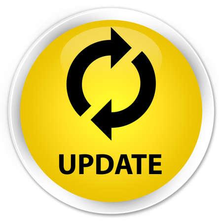 update: Update yellow glossy round button