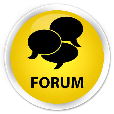 comments: Forum (comments icon) yellow glossy round button