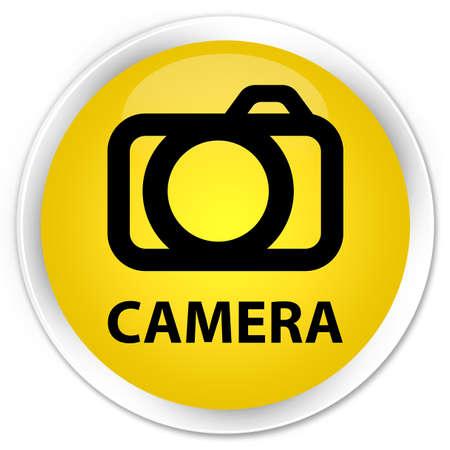 digital slr: Camera yellow glossy round button
