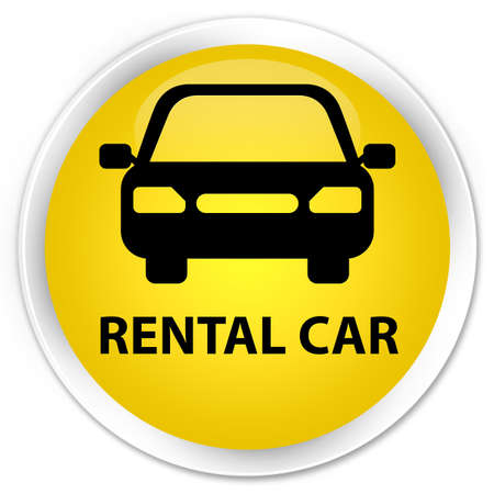 rental: Rental car yellow glossy round button