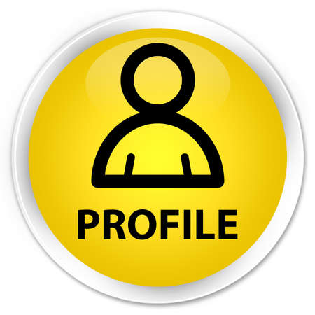 member: Profile (member icon) yellow glossy round button