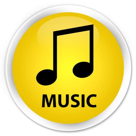 tune: Music (tune icon) yellow glossy round button