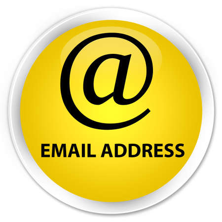 email address: Email address yellow glossy round button