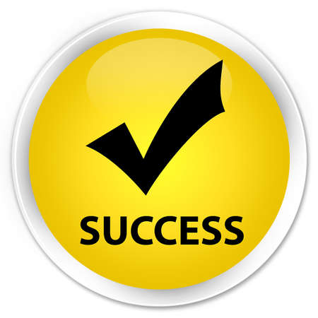 allow: Success (validate icon) yellow glossy round button
