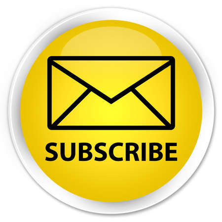 subscribe: Subscribe (email icon) yellow glossy round button