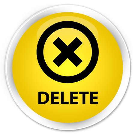 delete: Delete yellow glossy round button