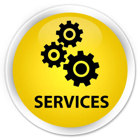 preference: Services (gears icon) yellow glossy round button