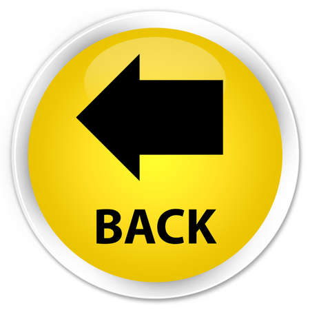 round back: Back yellow glossy round button Stock Photo
