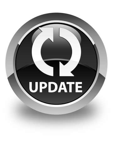 update: Update glossy black round button