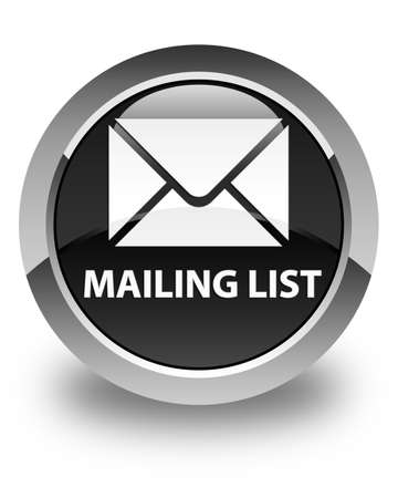 mailing: Mailing list glossy black round button