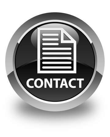 term and conditions: Contact (page icon) glossy black round button