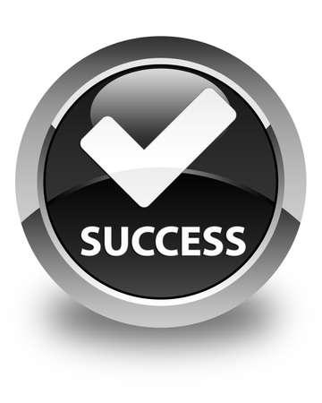 validate: Success (validate icon) glossy black round button