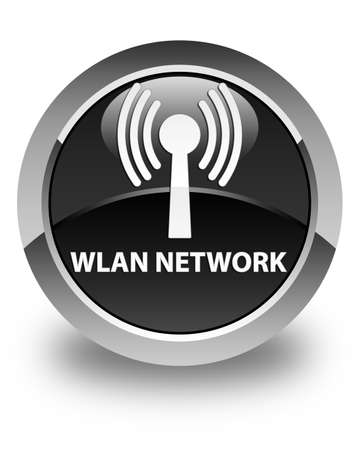 crossover: Wlan network glossy black round button
