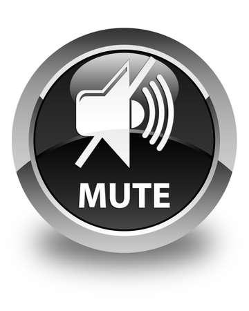 mute: Mute glossy black round button