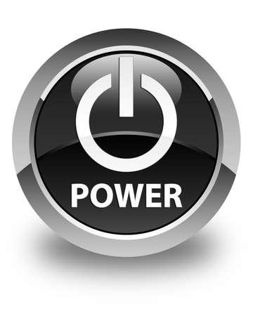 shut off: Power glossy black round button
