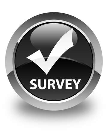 election choices: Survey (validate icon) glossy black round button