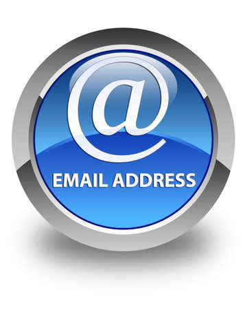 email address: Email address glossy blue round button