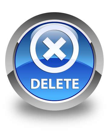 delete: Delete glossy blue round button