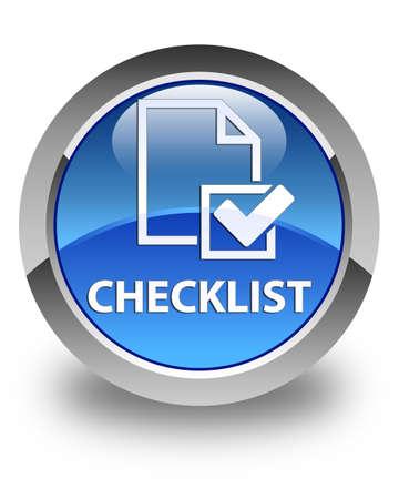 checklist: Checklist glossy blue round button