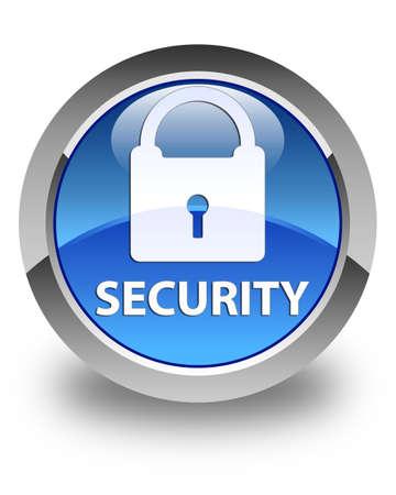 key hole shape: Security (padlock icon) glossy blue round button