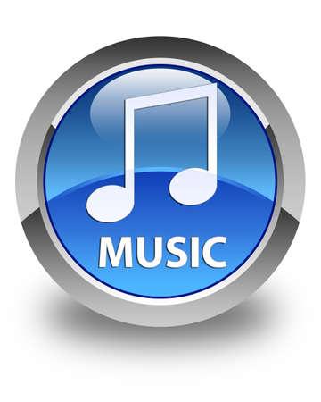tune: Music (tune icon) glossy blue round button Stock Photo