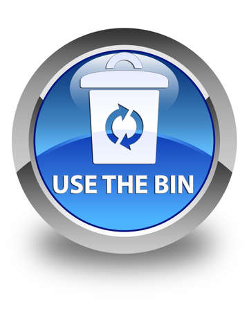 refuse: Use the bin glossy blue round button