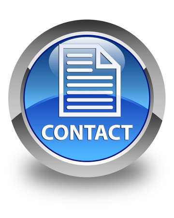 contact page: Contact (page icon) glossy blue round button Stock Photo