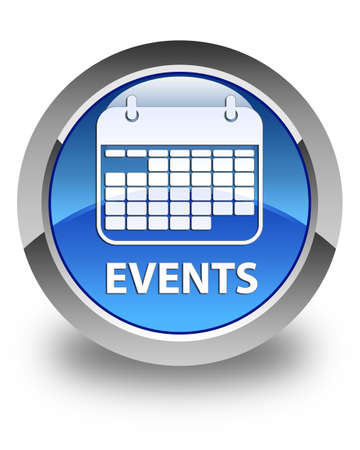 event planner: Events (calendar icon) glossy blue round button