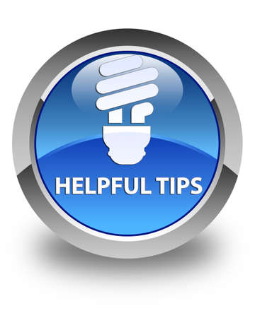 incandescence: Helpful tips (bulb icon) glossy blue round button