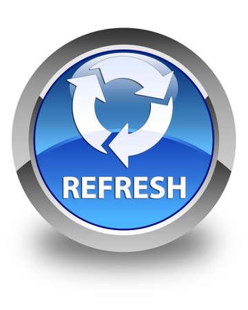 refresh button: Refresh glossy blue round button