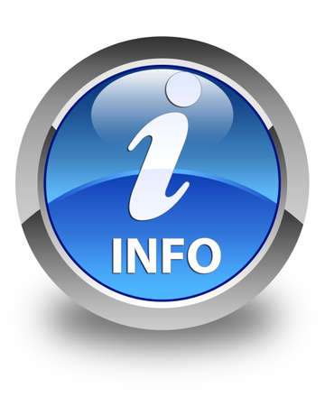 informing: Info glossy blue round button Stock Photo