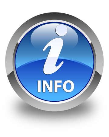 inquiry: Info glossy blue round button Stock Photo