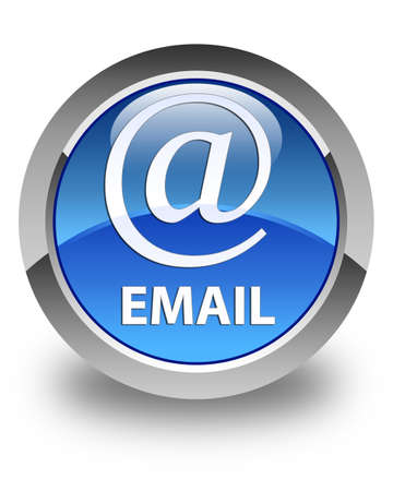 email address: Email (address icon) glossy blue round button