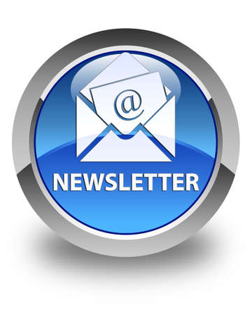 article marketing: Newsletter glossy blue round button