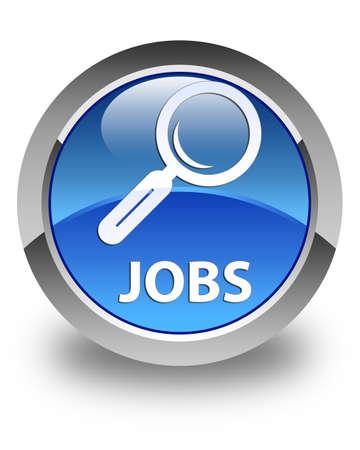 jobs: Jobs glossy blue round button