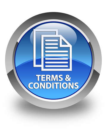 conditions: Terms and conditions (pages icon) glossy blue round button
