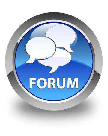 comments: Forum (comments icon) glossy blue round button