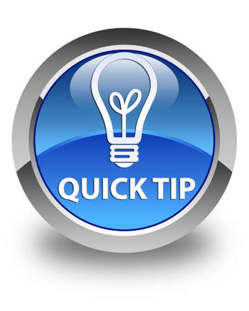 tip: Quick tip (bulb icon) glossy blue round button