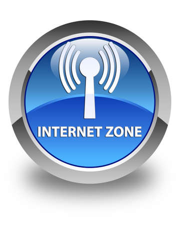 wlan: Internet zone (wlan network) glossy blue round button