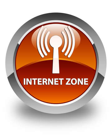 wlan: Internet zone (wlan network) glossy brown round button