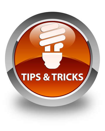 incandescence: Tips and tricks (bulb icon) glossy brown round button
