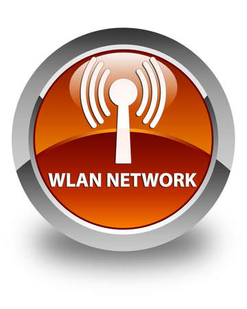 wlan: Wlan network glossy brown round button
