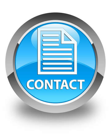 contact page: Contact (page icon) glossy cyan blue round button