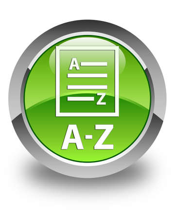 az: A-Z (list page icon) glossy green round button