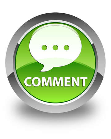 comment: Comment (conversation icon) glossy green round button